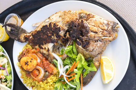 trigger fish: Grilled Trigger Fish Stock Photo
