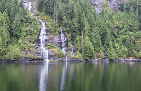 Waterfalls of Misty Fjord Alaska