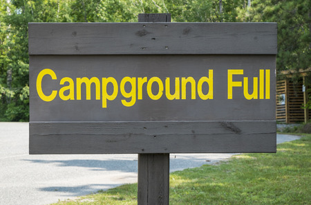 campground: Campground Full Sign