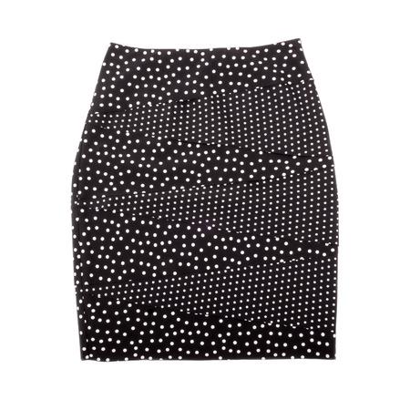 pencil skirt: Polka Dot Pencil Skirt Isolated on White