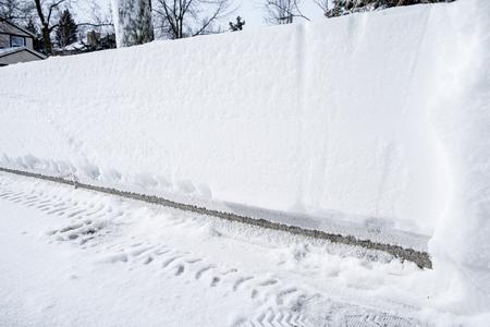 suburban: Suburban Neighborhood After a Winter Snow Storm