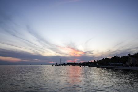 clave sol: Puesta de sol en Key West Florida