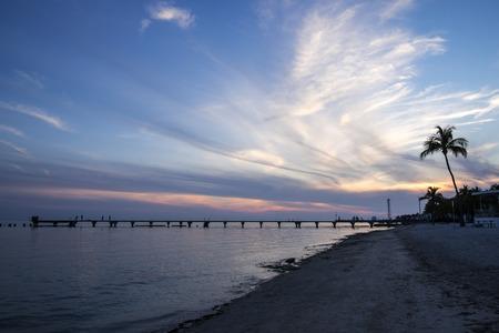 llave de sol: Puesta de sol en Key West Florida