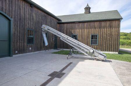 Grape Lift Conveyor in a Winery