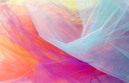 textura: Antecedentes e texturas colorido abstrato Tulle Banco de Imagens