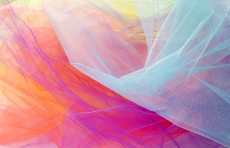 Colorful Abstract Tulle Background and Textures