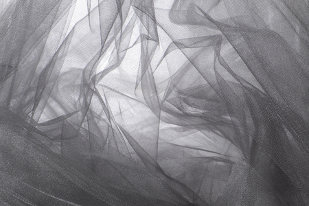 fabric textures: Abstract Grey Tulle Fabric Background and Textures Stock Photo