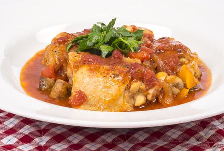 plateful: Plateful of Chicken Cacciatore