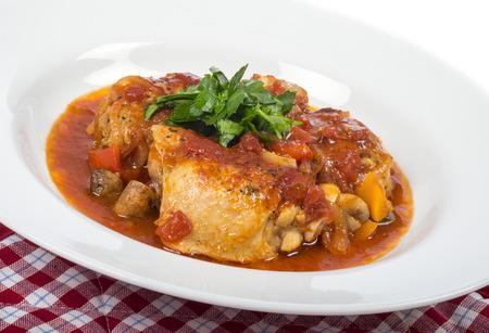 Plateful of Chicken Cacciatore