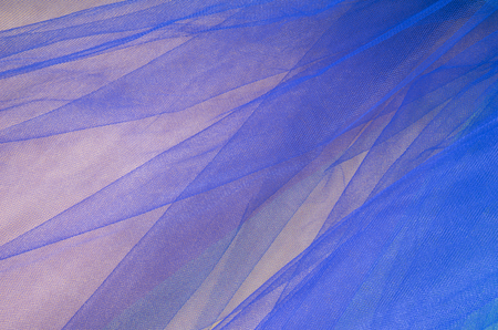 tulle: Colorful Tulle on Satin Fabric Background