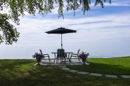 patio furniture: Patio Furniture With a View of Lake Erie