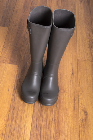 rubber boots: Mens Grey Rubber Boots