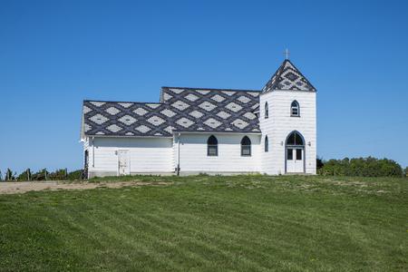 Christ Church at Closson Chase Winery Stock Photo