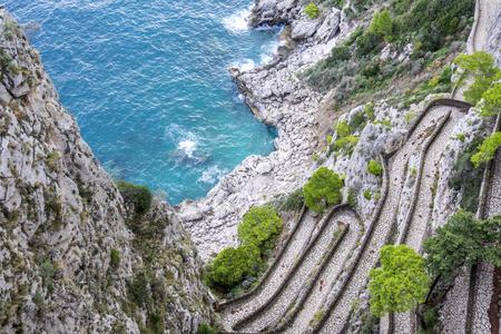 capri: Via Krupp in Capri Italy