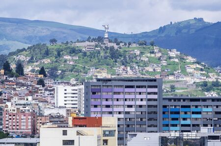 Winged Virgin Overlooking and Protecting the City of Quito in Ecuador