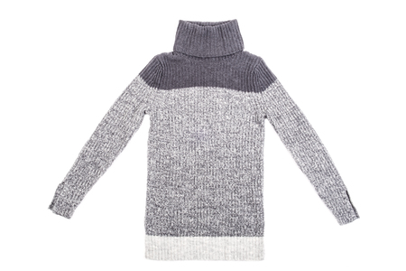 Womens Wool Turtleneck Sweater Isolated on White