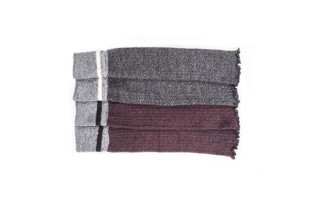 Due paia di scaldamuscoli in lana da donna isolati su bianco Archivio Fotografico - 91911468