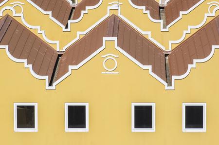 Closeup of Colorful Buildings in Bonaire Caribbean