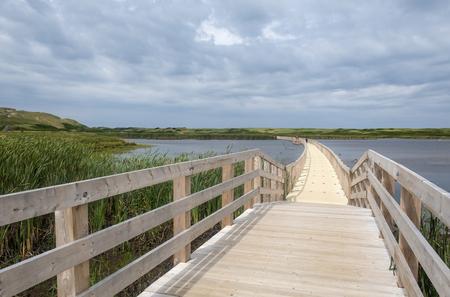 Floating Boardwalk at Greenwich Marsh in Prince Edward Island Canada