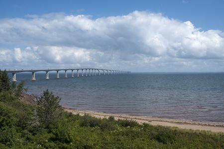 The Confederation Bridge Between Prince Edward Island and New Brunswick Canada Reklamní fotografie