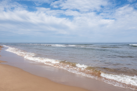 The Tranquil Red Sand Beach of Thunder Cove in Prince Edward Island Canada 版權商用圖片