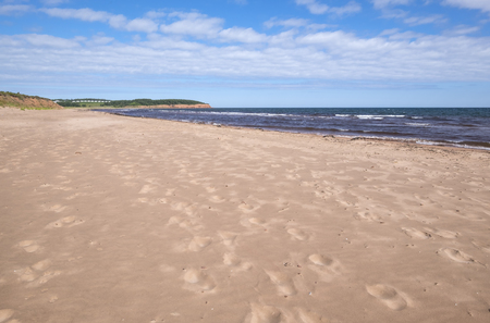 Red Sand Beach of North Rustico Prince Edward Island Canada Reklamní fotografie