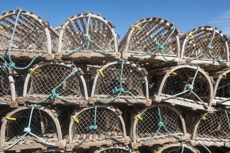 Pile of Lobster Traps in North Rustico Prince Edward Island