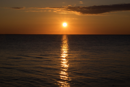 Spectacular Sunset Viewed from West Point Lighthouse in Prince Edward Island Canada