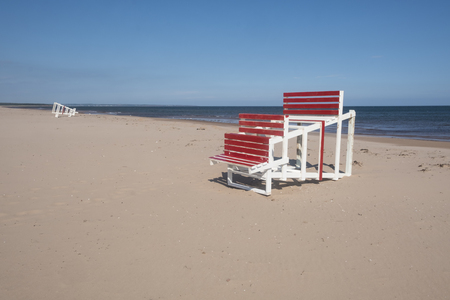 Deserted Brackley Beach in Prince Edward Island at the End of the Summer Season