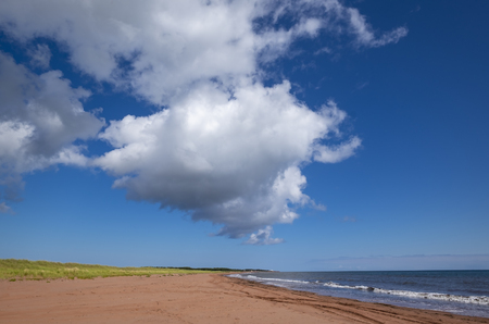 Dramatic White Clouds Over Jules Point in Prince Edward Island Reklamní fotografie