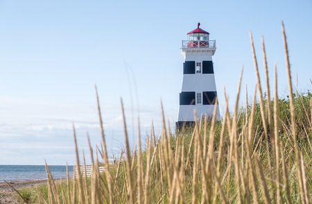 West Point Lighthouse and Museum in Prince Edward Island Canada Reklamní fotografie