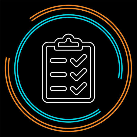 clipboard icon - vector check list, checklist form illustration, survey icon. Thin line pictogram - outline stroke Ilustrace