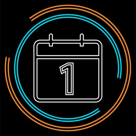 vector calendar day icon, day symbol, event icon. Thin line pictogram - outline stroke