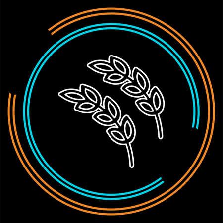 Gluten free icon, Gluten free symbol - healthy and organic symbol, vector wheat illustration. Thin line pictogram - outline stroke