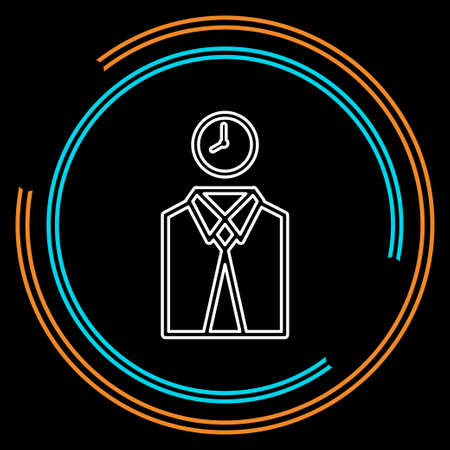managing time icon, vector time management concept. business symbol. Thin line pictogram - outline stroke