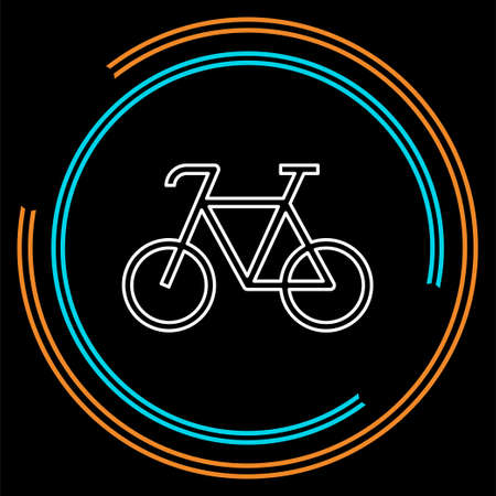 bicycle icon - vector bike illustration - sport symbol. Thin line pictogram - outline stroke