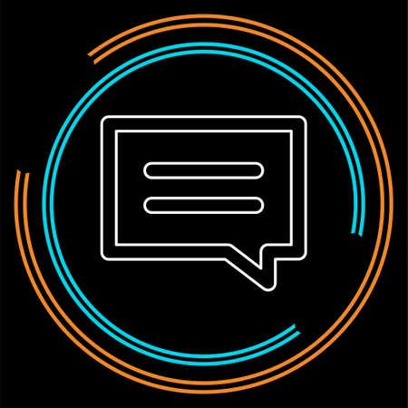 speech bubble illustration, communication icon - conversation symbol, chat icon vector. Thin line pictogram - outline stroke