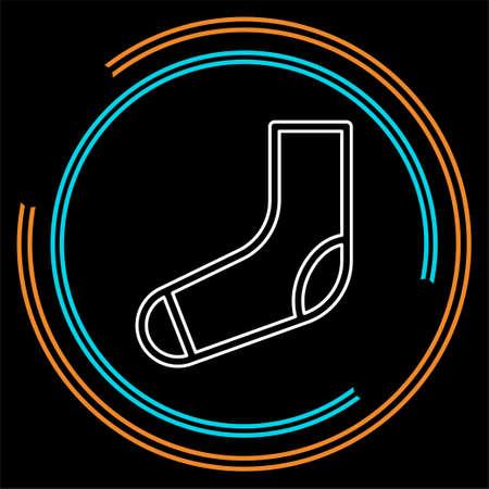 vector socks illustration isolated, fashion clothing icon symbol. Thin line pictogram - outline stroke