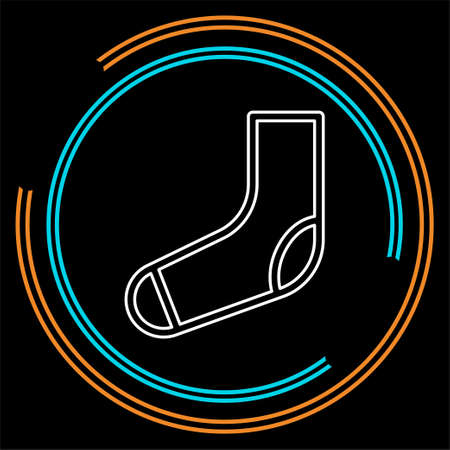 vector socks illustration isolated, fashion clothing icon symbol. Thin line pictogram - outline stroke