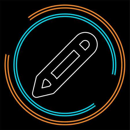 Pencil sign icon - Edit site content, creative design - graphic element vector. Thin line pictogram - outline stroke