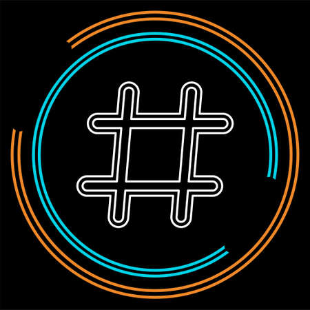 Hashtag icon. Simple element illustration. Hashtag symbol design from Social Media Marketing collection. Can be used in web and mobile. Thin line pictogram - outline stroke Vecteurs