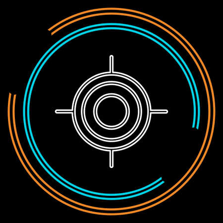 crosshairs icon - vector target aim, sniper symbol - weapon illustration. Thin line pictogram - outline stroke Illustration