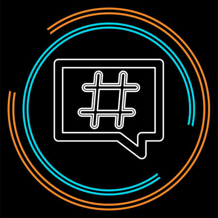 Hashtag icon. Simple element illustration. Hashtag symbol design from Social Media Marketing collection. Can be used in web and mobile. Thin line pictogram - outline stroke
