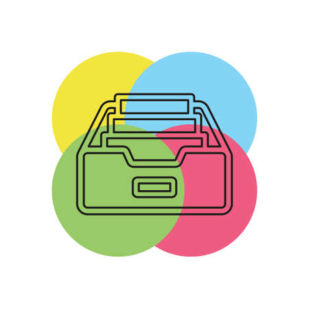 Simple Folder Archive. Thin line pictogram - outline stroke