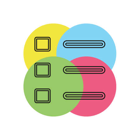 List icon - Content view options, list symbol - options sign. Thin line pictogram - outline stroke