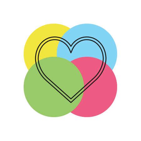 vector love sign. heart illustration, valentine symbol icon. Thin line pictogram - outline stroke