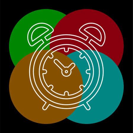 Simple Clock. Thin line pictogram - outline editable stroke Stock Vector - 125297784
