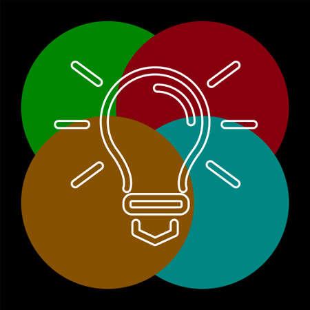 vector light bulb icon - idea concept, energy power symbol. Thin line pictogram - outline editable stroke