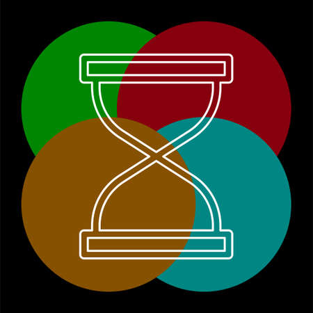 Hourglass icon, sand time clock. Thin line pictogram - outline editable stroke