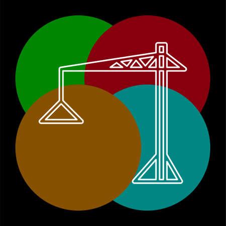 crane icon - vector construction crane, building construction symbol. Thin line pictogram - outline editable stroke Reklamní fotografie - 124765343